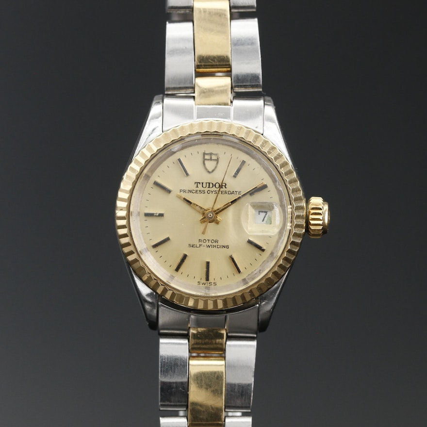 1970 Tudor Princess Oysterdate 18K and Stainless Steel Automatic Wristwatch