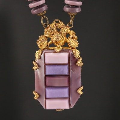 Vintage Monochromatic Glass Necklace