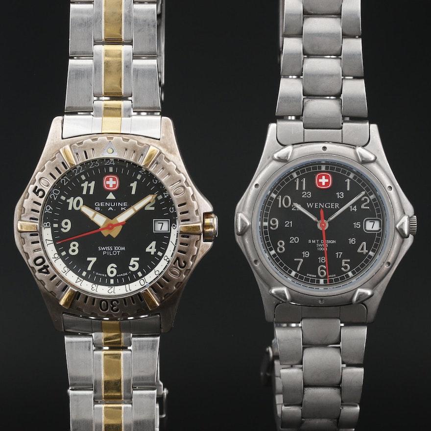 Wenger SMT Design and Genuine S.A.K. Pilot Quartz Wristwatches