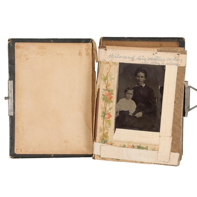 Photo Album of Portrait Tintype Photographs