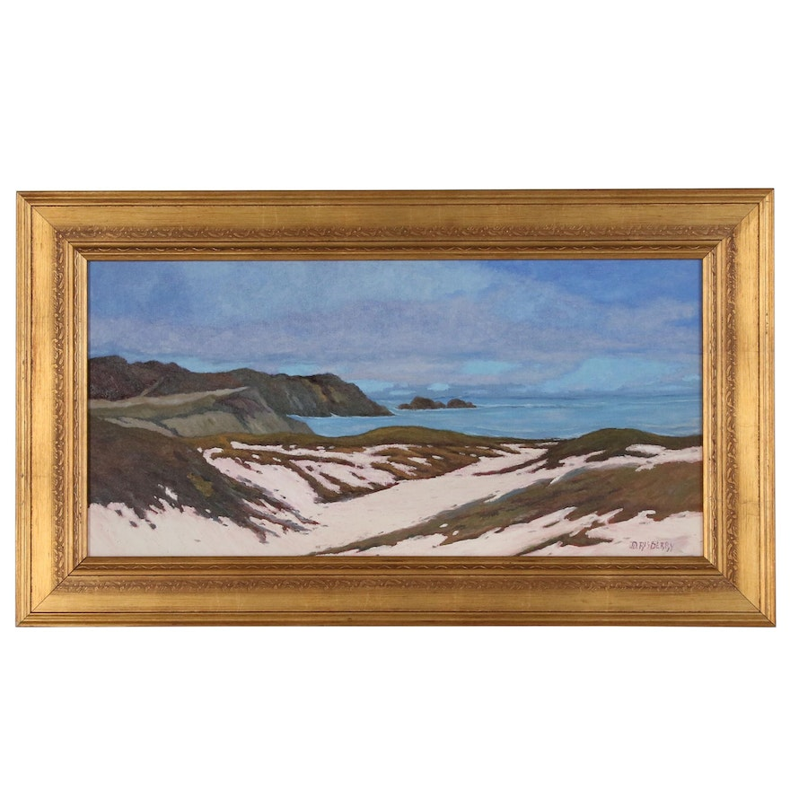 Jesse Don Rasberry Coastal Landscape Oil Painting