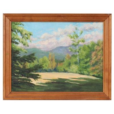 "Virginius C. Hall Oil Painting ""The Far Field"", 2005"