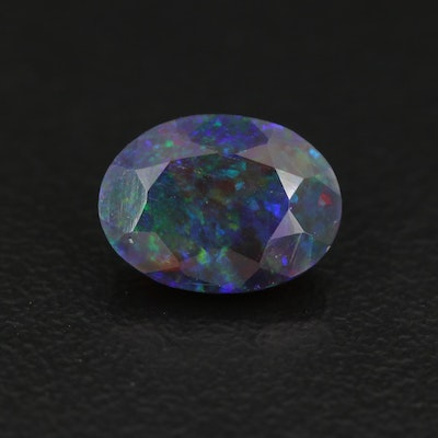 Loose 1.18 CT Oval Faceted Opal
