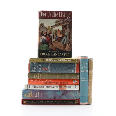 "First Edition ""For Us the Living"" with Other Fiction and Nonfiction Books"
