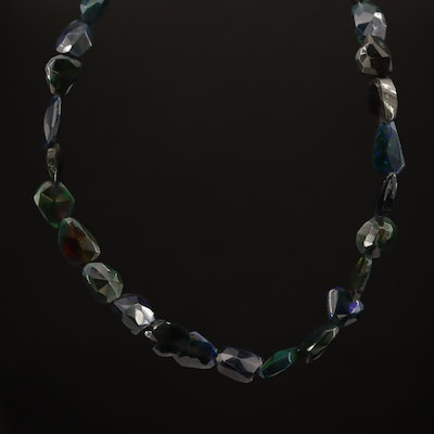 Adjustable Beaded Opal Necklace