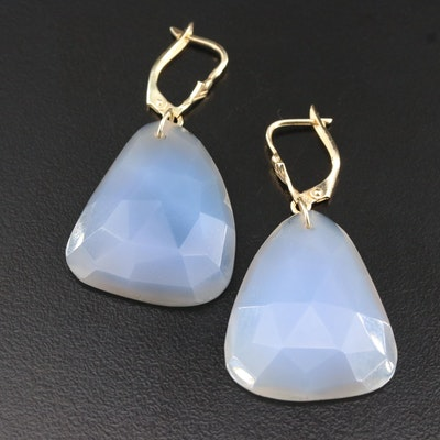 14K Agate Drop Earrings
