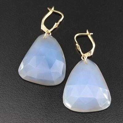 14K Agate Drop Earrings