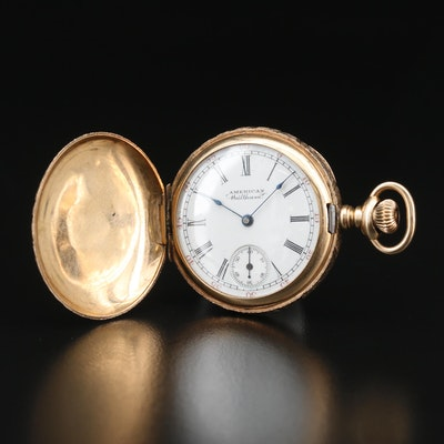 American Waltham Multicolor 14K Gold Pocket Watch