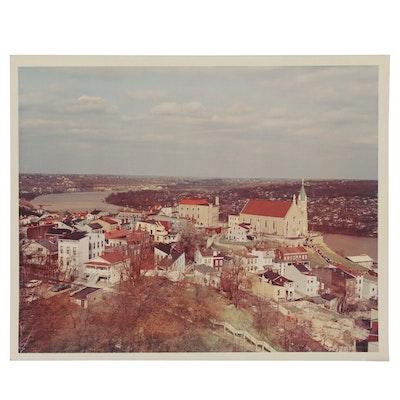 Chromogenic Color Photo of Mount Adams, Cincinnati and Ohio River, Circa 1965