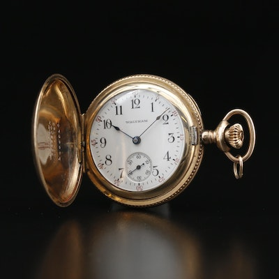 1907 Waltham Gold Filled Hunting Case Pocket Watch