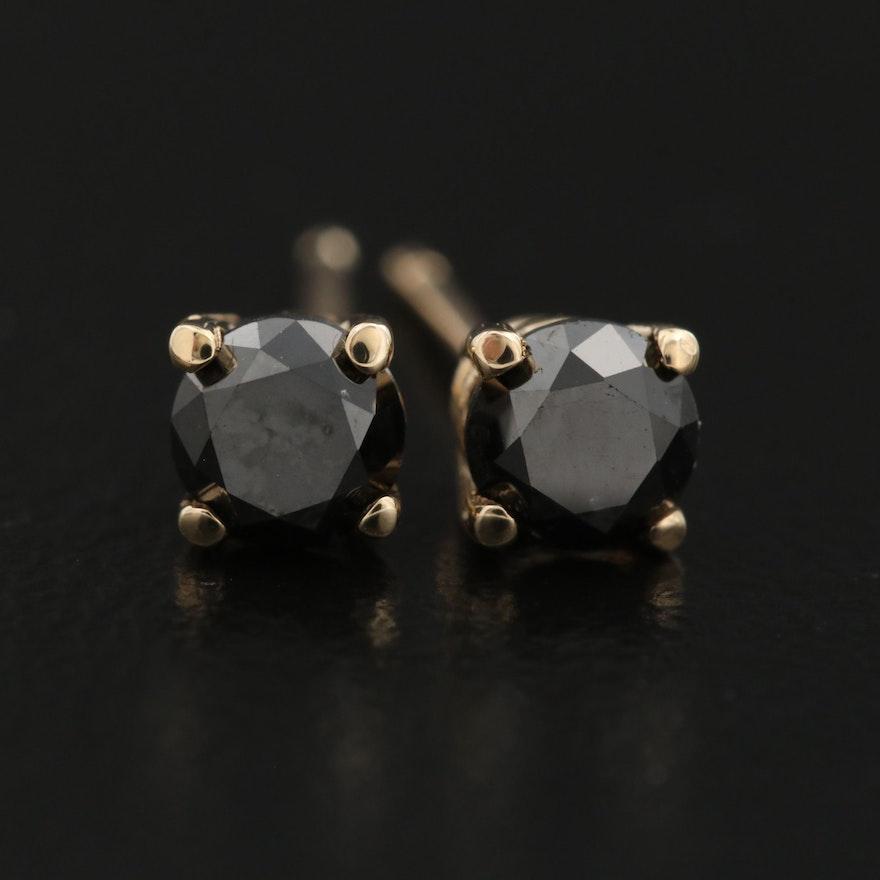 14K 0.64 CTW Solitaire Diamond Stud Earrings