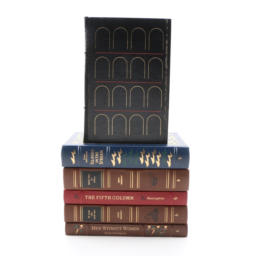 Easton Press Leather Bound Ernest Hemingway Books, 1990