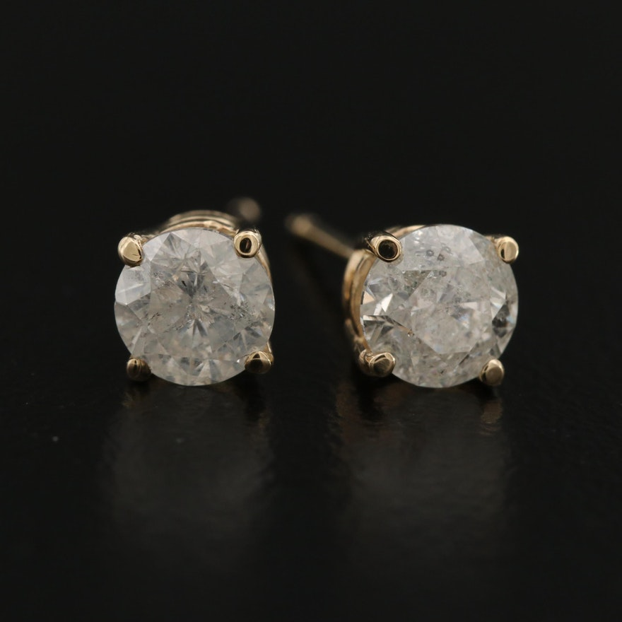 14K 1.03 CTW Diamond Stud Earrings