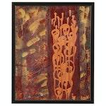 """Luiza Vizoli Acrylic Painting """"Ethics"""", 2007"""