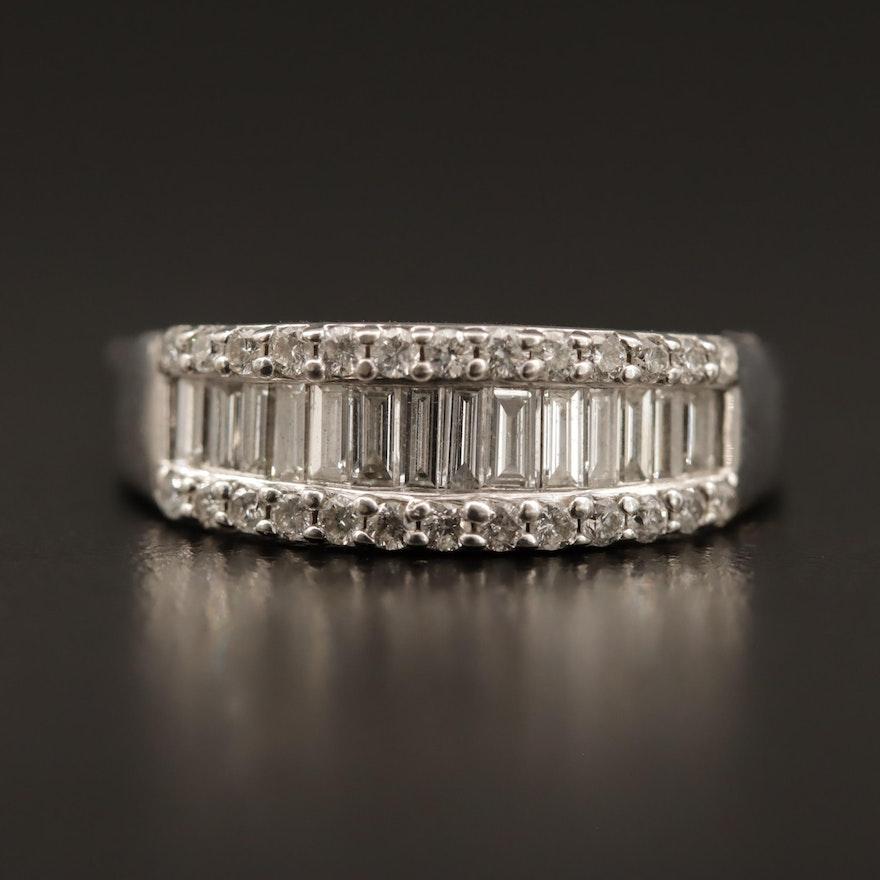 14K 0.96 CTW Diamond Band