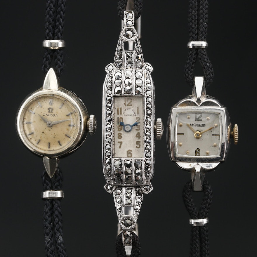Collection of Vintage Ladies Dress Watches Featuring Omega and LeCoultre
