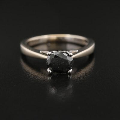 18K 1.00 CT Diamond Solitaire Ring with Platinum Head