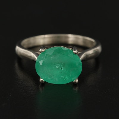 14K 2.70 CT Emerald Solitaire Ring