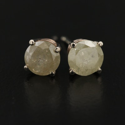 14K 1.38 CTW Diamond Stud Earrings