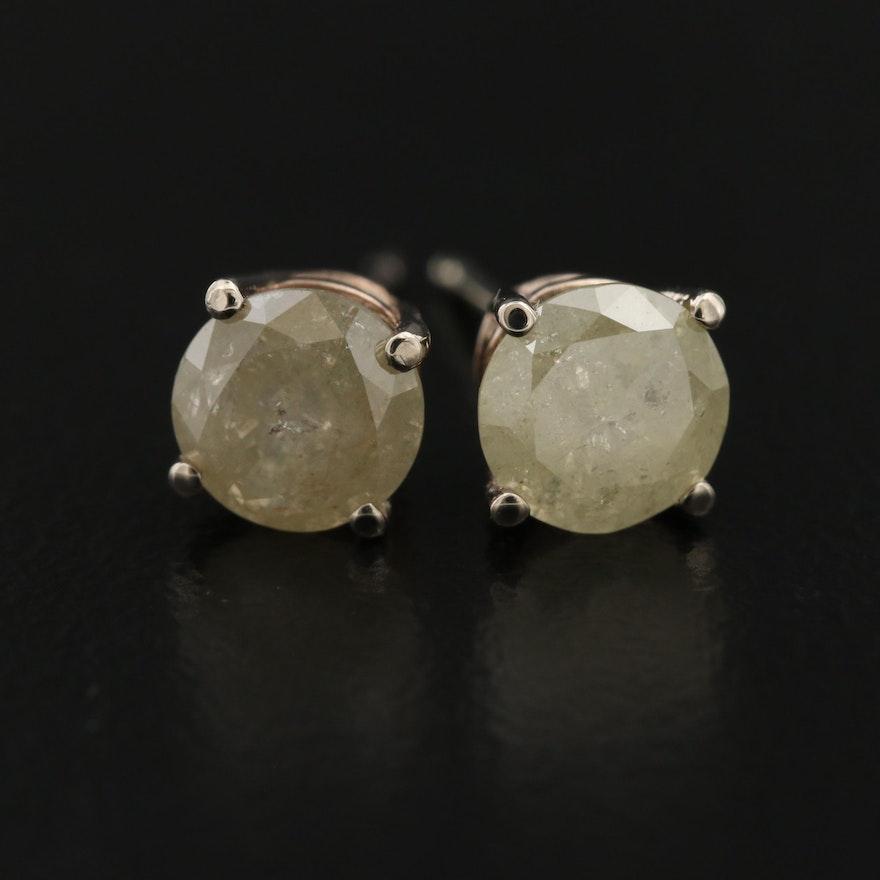 14K 1.38 CTW Diamond Stud Earrings