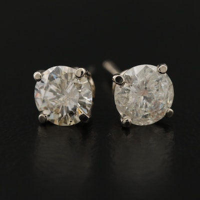 14K 1.29 CTW Diamond Stud Earrings