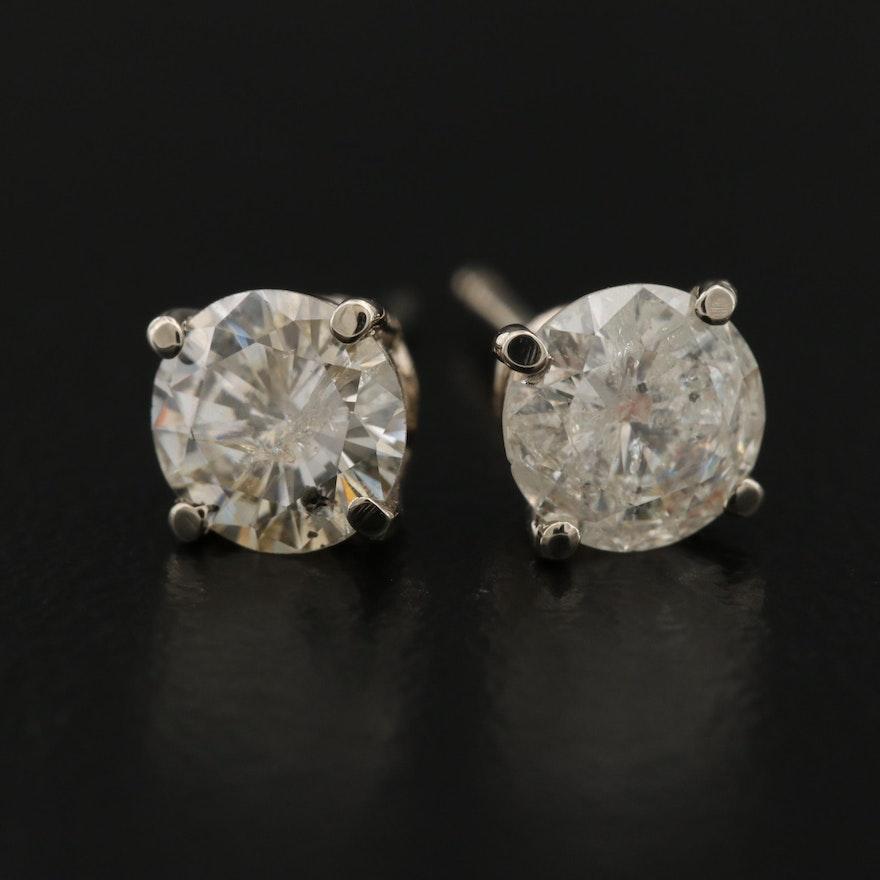 14K 1.29 CTW Diamond Stud Earrings
