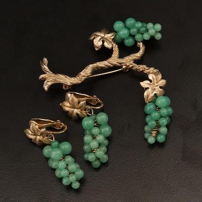Vintage Marvella Peking Glass Grape Cluster Demi Paurer