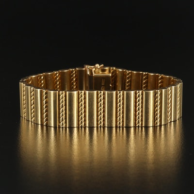 18K Bracelet with Twisted Rope Motif Links