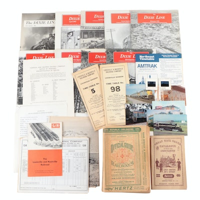 Railroad Ephemera and Collectibles, Mid to Late 20th Century