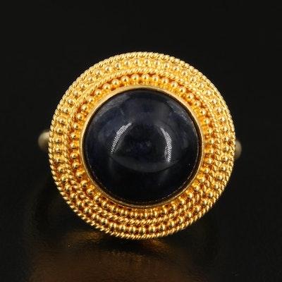 Greek Illias Lalaounis 18K Sodalite Ring