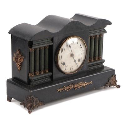 Waterbury Clock Co. Adamantine Style Mantel Clock, Late 19th Century