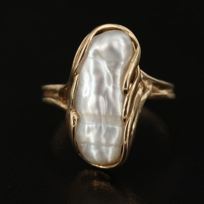 Maui Divers 14K Baroque Pearl Ring