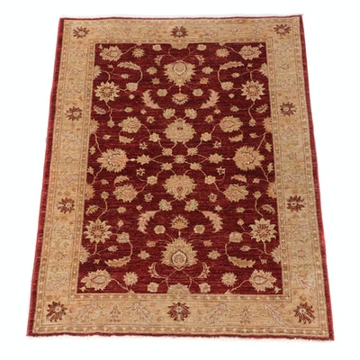 4'0 x 5'6 Hand-Knotted Mahal Style Wool Rug for The Rug Gallery