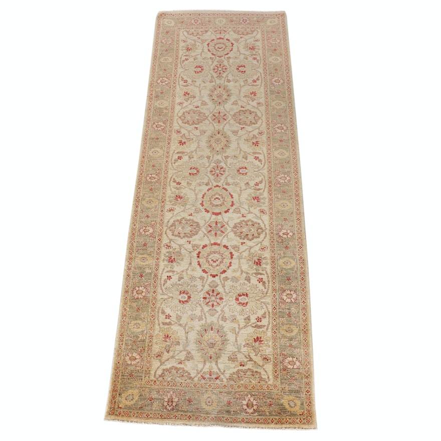 3'9 x 12'4 Hand-Knotted Pakistani Wool Long Rug for The Rug Gallery