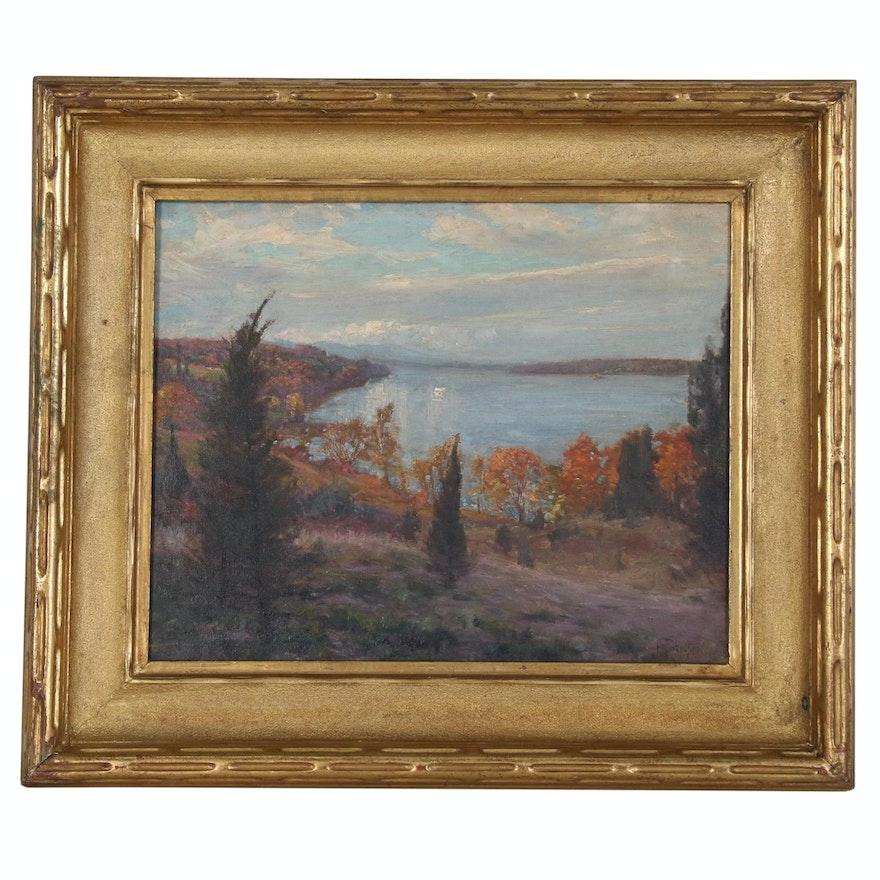 Hal Robinson Autumn Landscape Oil Painting