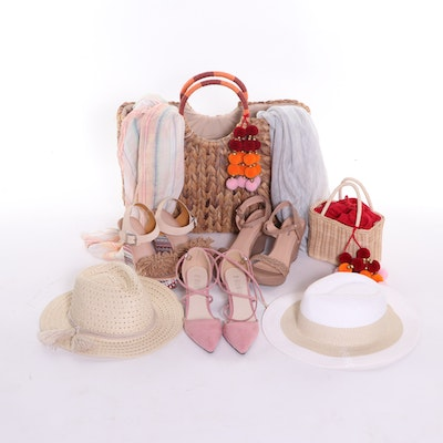 Wedge Sandals and Heels, Woven Handbags and Summer Hats