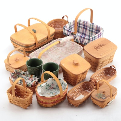 Longaberger Handwoven Herb Baskets, Ceramic Garden Vases, and More