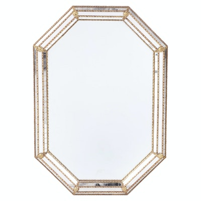 Venetian Style Octagonal Wall Mirror, Contemporary