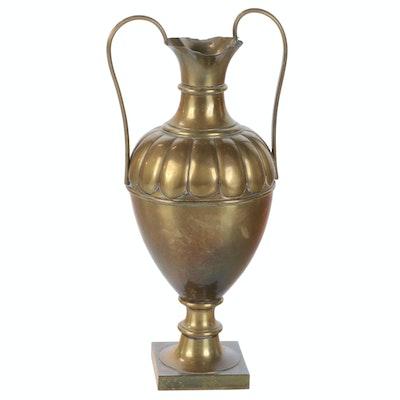 Neoclassical Brass Amphora Vase