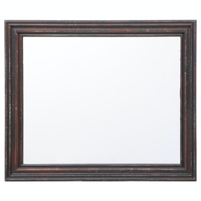 Ebonized Pine Wall Mirror, Mid to Late 20th Century