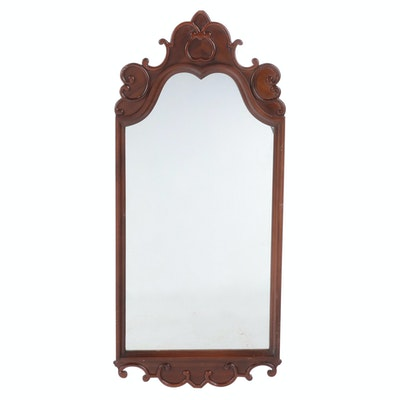 Victorian Style Walnut Wall Mirror, Early to Mid 20th Century