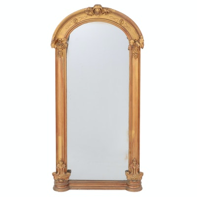 Rococo Revival Giltwood and Composition Pier Mirror, Third Quarter 19th Century