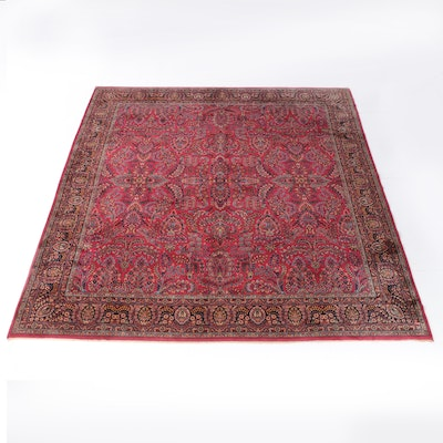 "11'3 x 12'2 Power Loomed Karastan ""Sarouk"" Wool Rug"