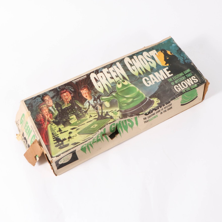 Transogram Green Ghost Glow-in-the-Dark Board Game, 1960s