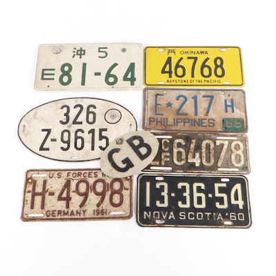 U.S. Forces and Other Foreign License Plates, 1960s