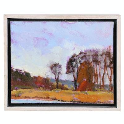 """Joe Lombardo Oil Painting """"Slate Run"""", 2012"""