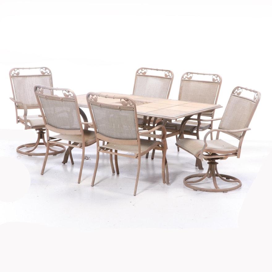 Seven-Piece Cast Aluminum Patio Dining Set