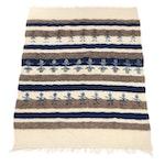 Alpaca Wool Pictorial Throw Blanket