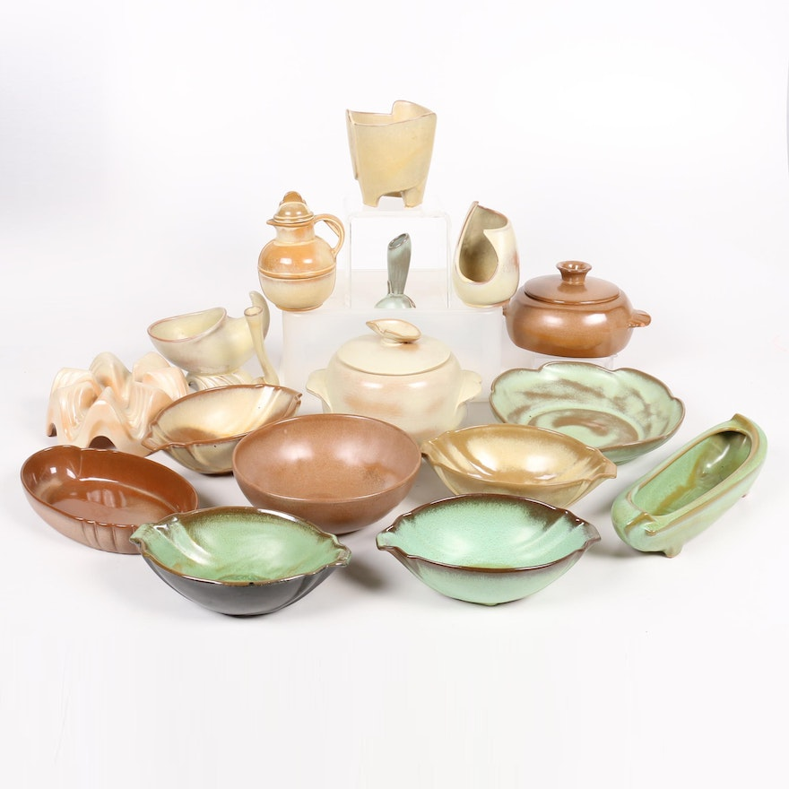 Assorted Frankoma Art Pottery Tableware, Mid to Late 20th Century