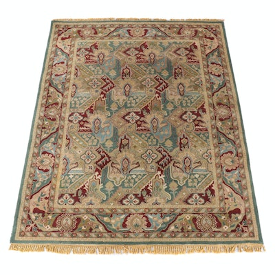 7'10 x 10'8 Hand-Tufted Indian Mahal Wool Rug